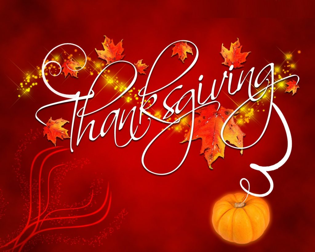 Thankfulness in troubling times